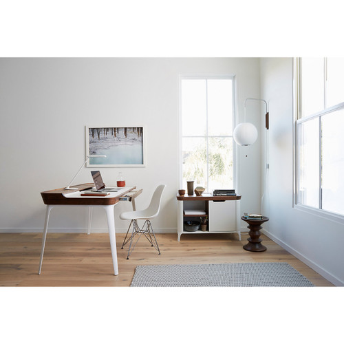 Eames Molded Fiberglass Side Chair, Wire Base by Herman Miller
