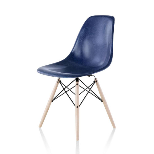 Eames Molded Fiberglass Side Chair, Dowel Leg Base by Herman Miller
