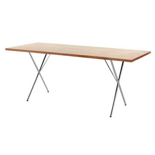 """Nelson X-Leg Table, 36"""" x 72"""" Veneer Top by Herman Miller"""