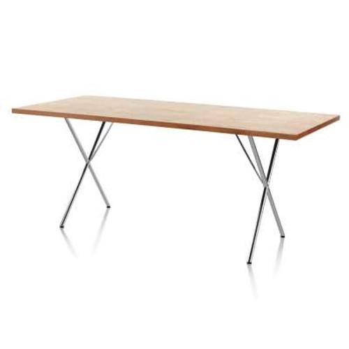 Nelson X-Leg Table, Veneer Top by Herman Miller