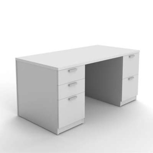 Currency Pedestal Desk with Drawers by Steelcase