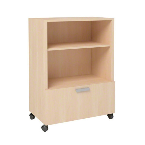 Currency Tall Mobile Cart with Lateral Drawer by Steelcase
