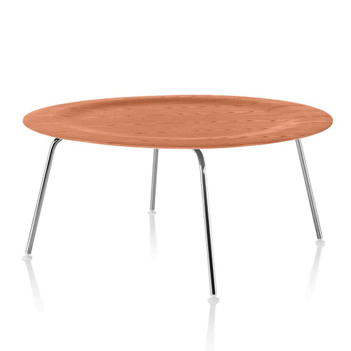 Eames Molded Plywood Coffee Table with Metal Base by Herman Miller