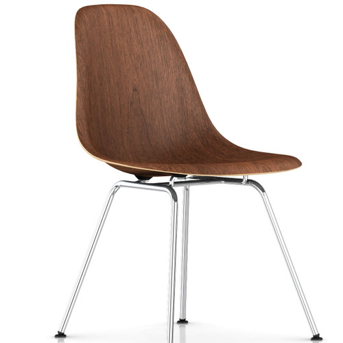 Eames Molded Wood Side Chair with 4-Leg Base by Herman Miller