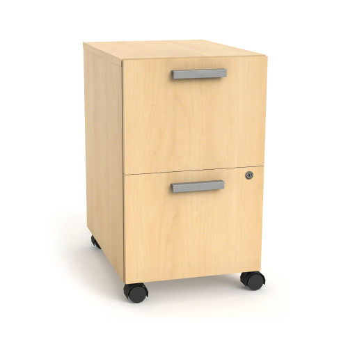 Currency Mobile Pedestal with Two File Drawers by Steelcase