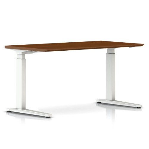 Renew Sit-to-Stand Rectangular Table with C-Foot