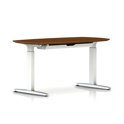 Renew Compact Sit-to-Stand Oval Table with T-Foot by Herman Miller
