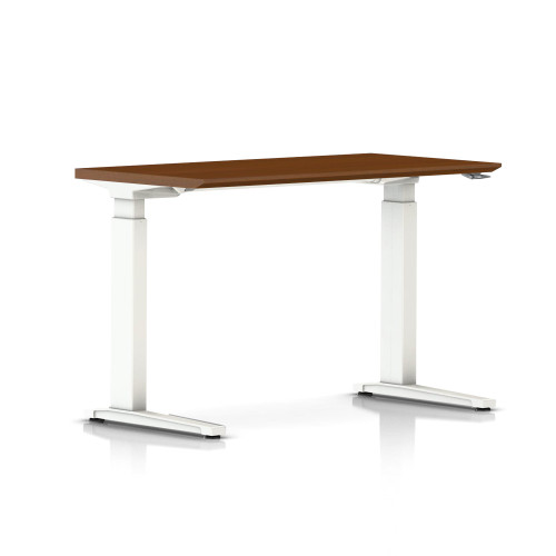 Renew Compact Sit-to-Stand Rectangular Table with C-Foot