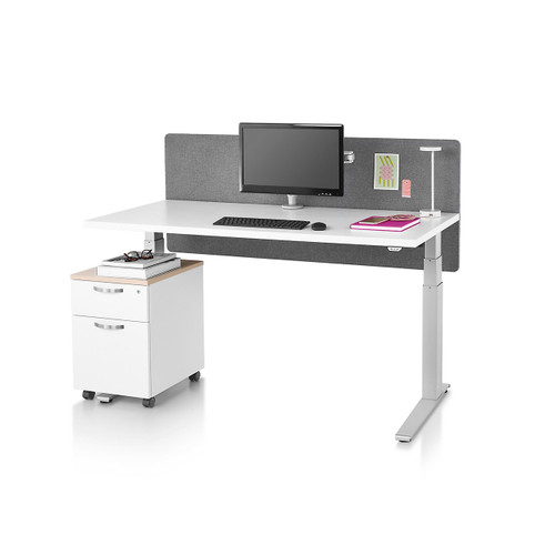Motia Sit-to-Stand Desk with C-Foot by Herman Miller