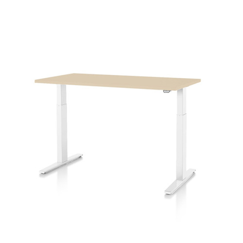 Motia Sit-to-Stand Desk with T-Foot by Herman Miller