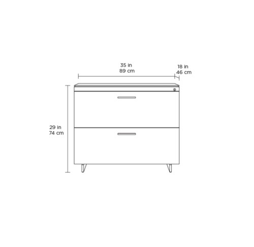 Sequel 20 Lateral File Cabinet by BDI