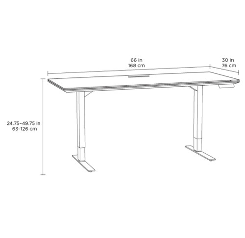 "Sequel 20 Lift Desk (30"" x 66"") by BDI"