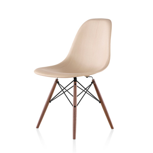 Eames Molded Wood Side Chair with Dowel Leg Base by Herman Miller