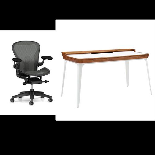 Aeron Chair / Airia Desk Work From Home Bundle