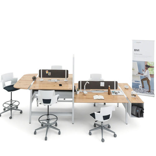 Bivi High Sit Bracket with Modesty Panel by Steelcase