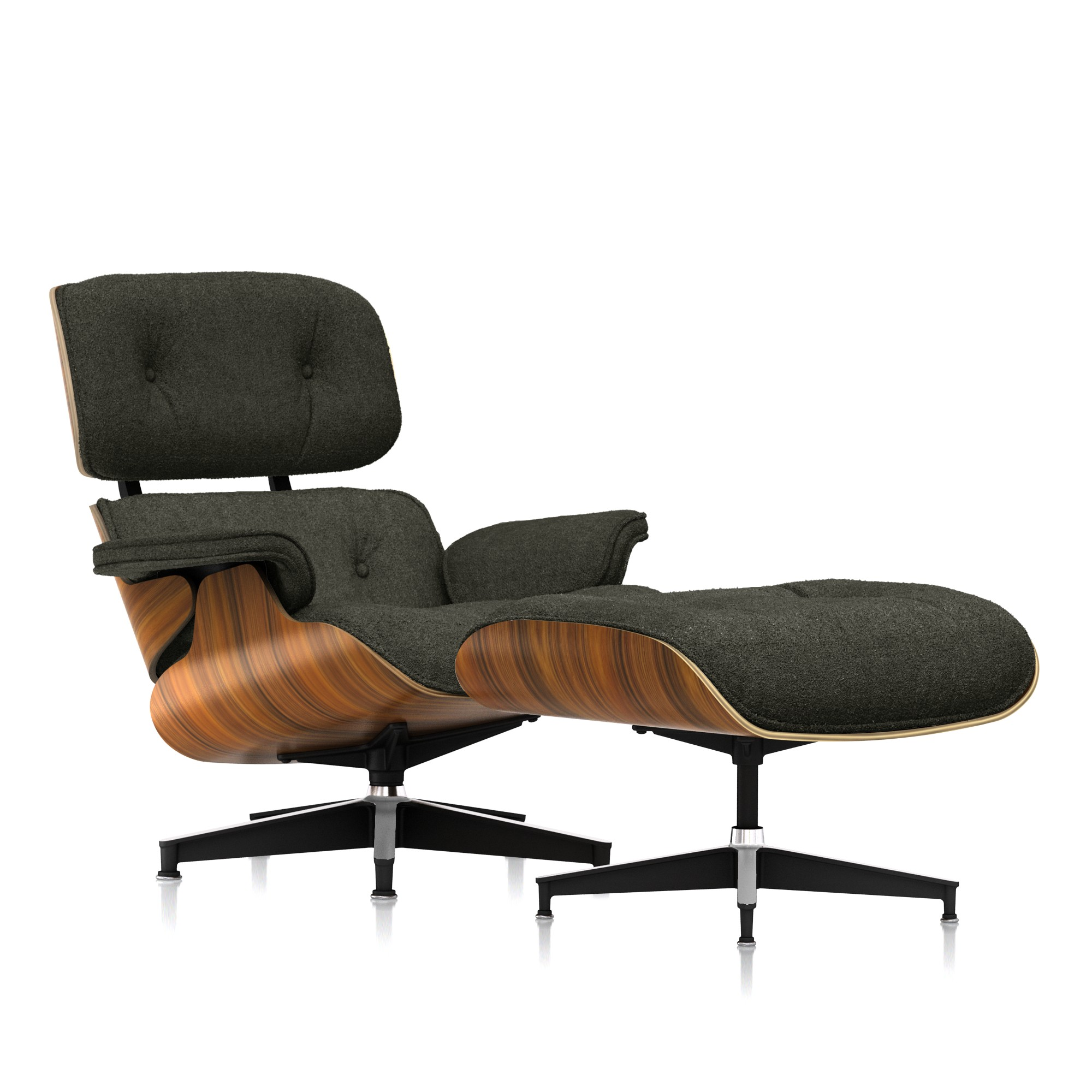Eames Lounge Chair and Ottoman in Armory Mohair Supreme Classic by Herman Miller