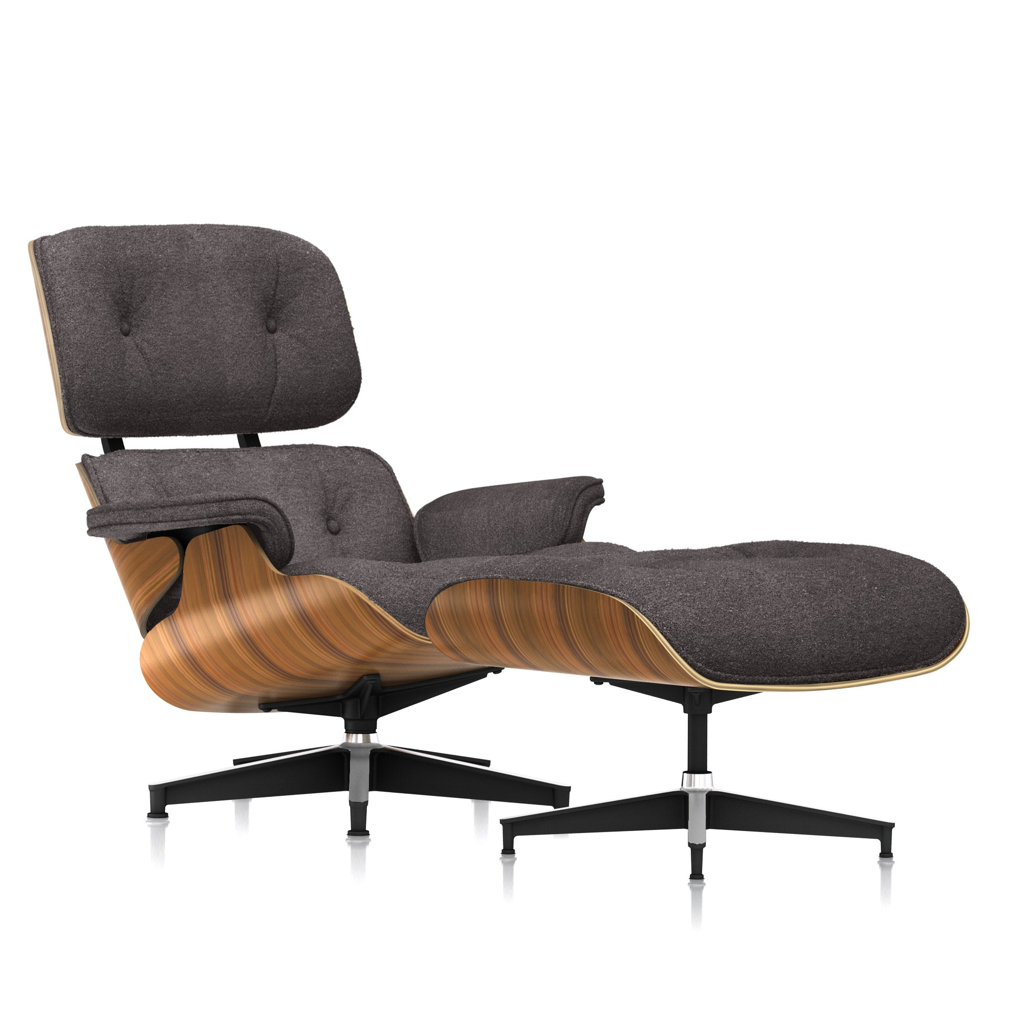 Eames Lounge Chair and Ottoman in Lupine Mohair Supreme Tall by Herman Miller