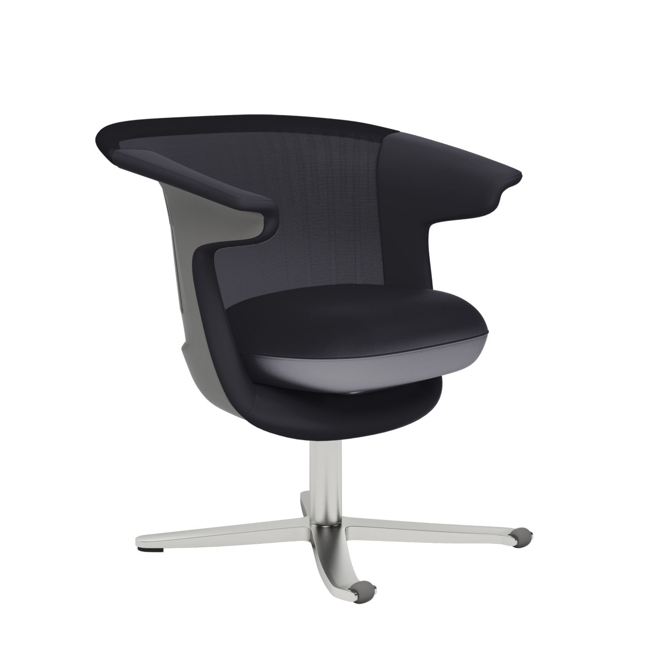 i2i Lounge Chair in Near Black by Steelcase