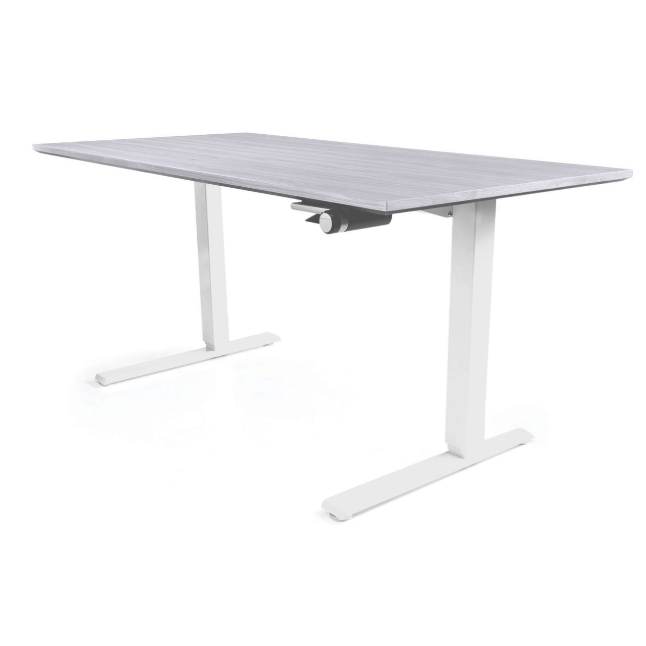 Float Desk in Platinum 66 in Wide by Humanscale