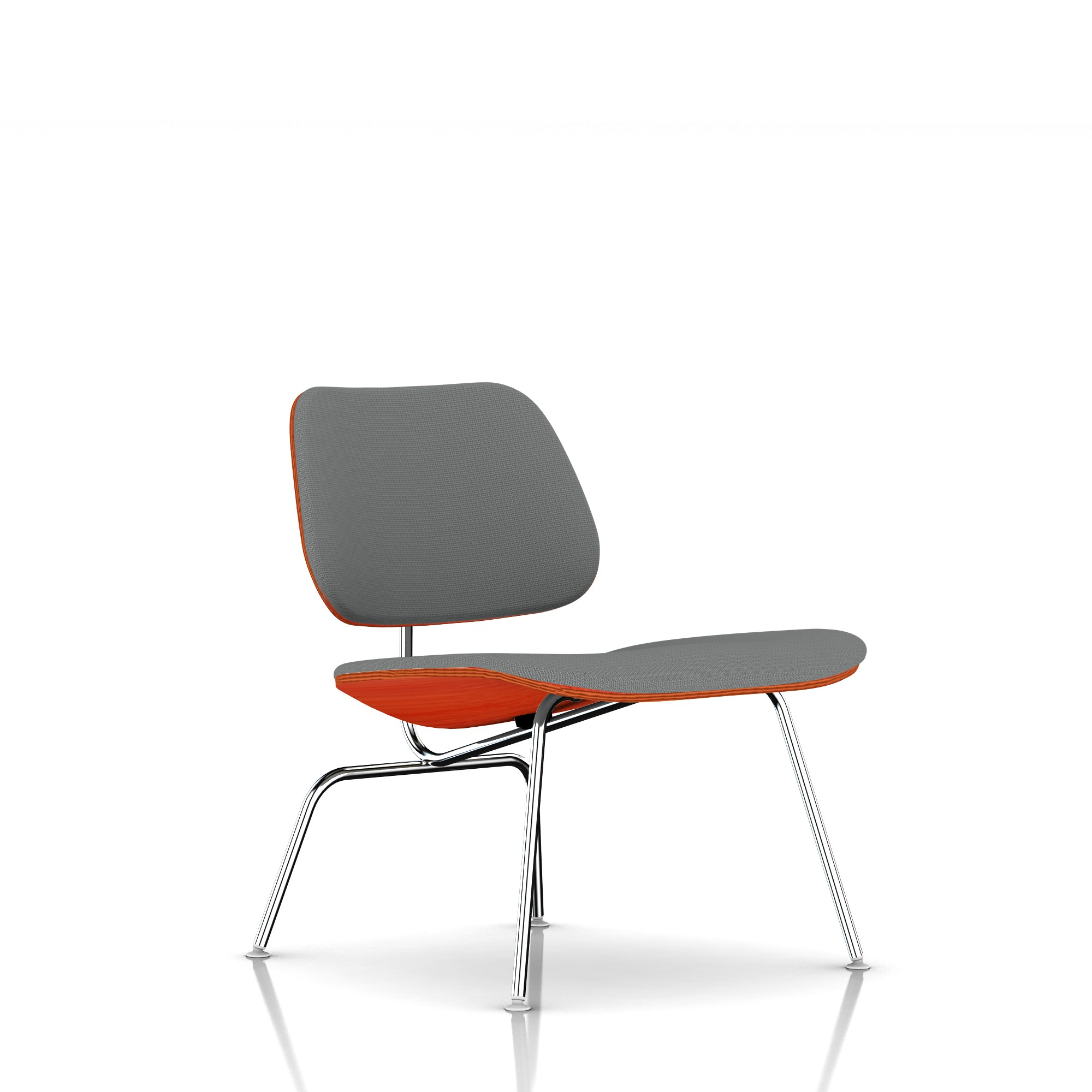 Eames Molded Plywood Lounge Chair in Slate Grey by Herman Miller