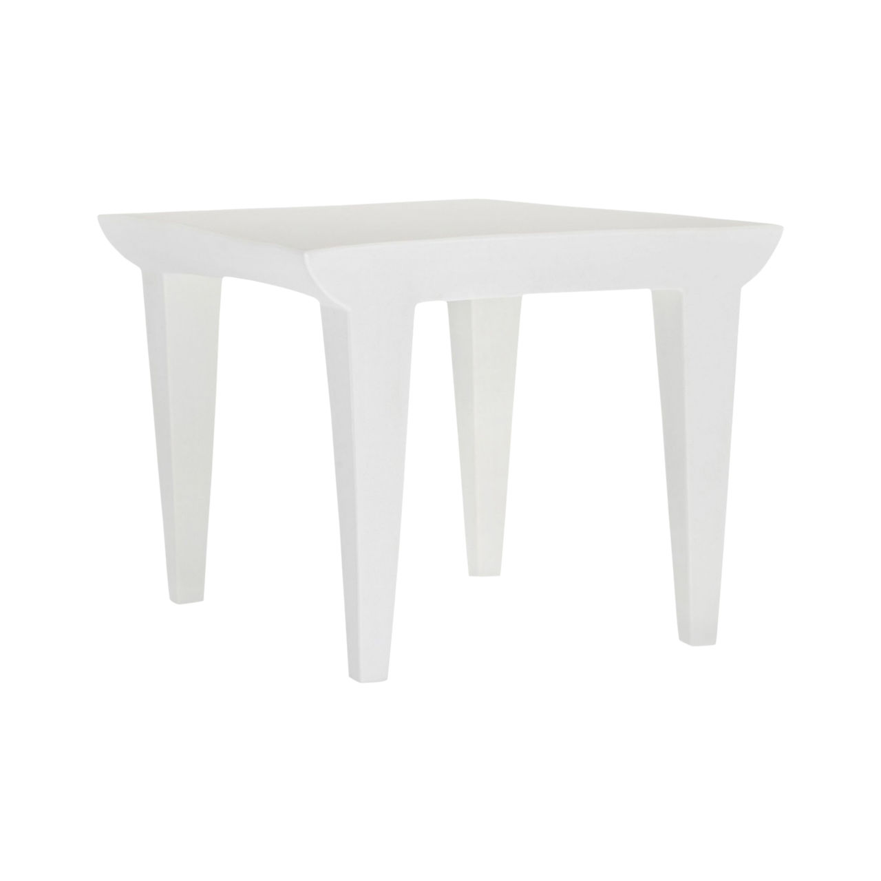 Bubble Club Side Table in Zinc White by Kartell