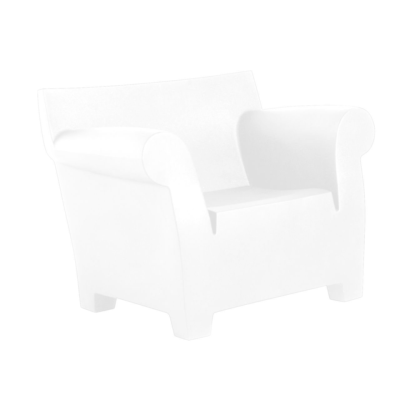 Bubble Club Chair in Zinc White by Kartell
