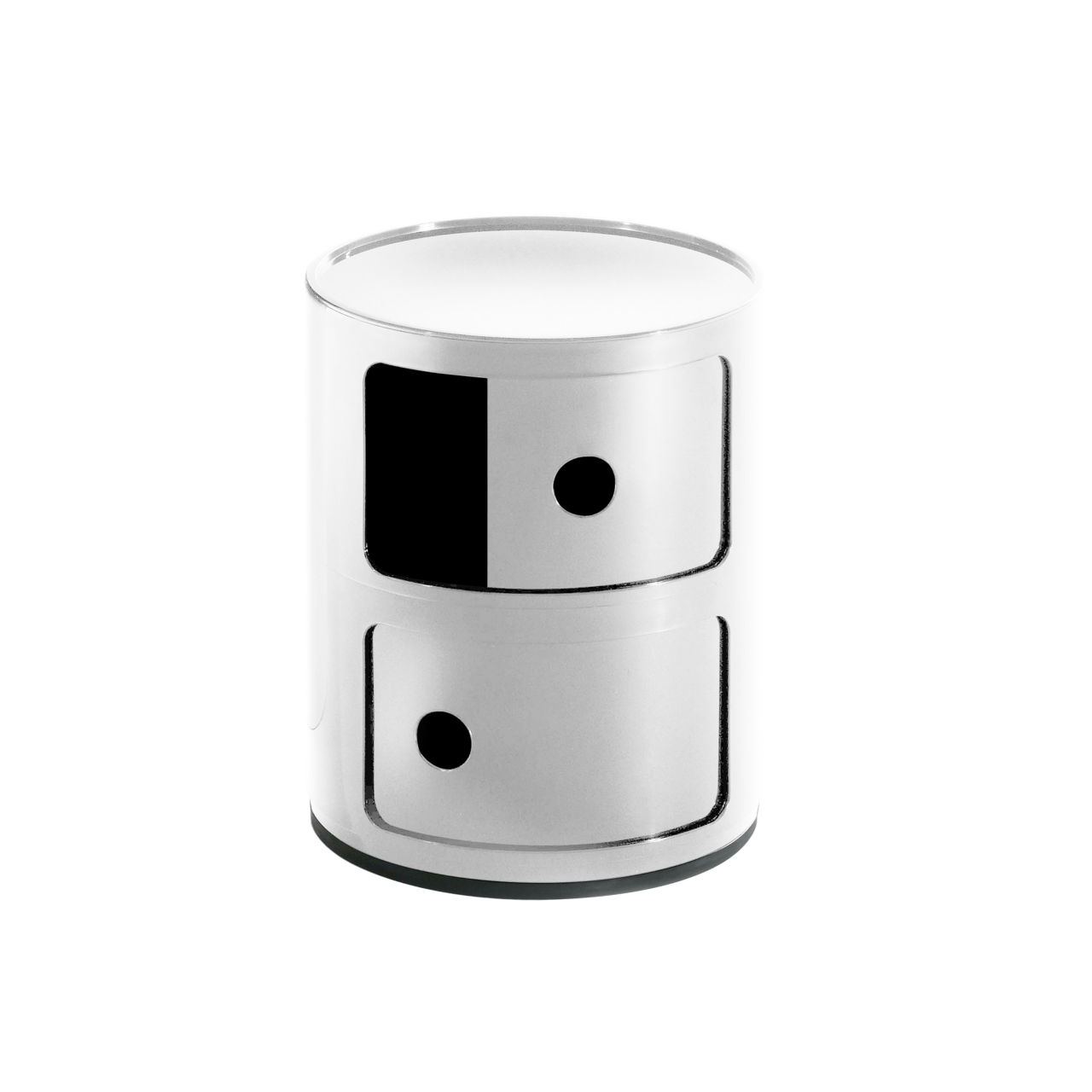 Componibili Small Round Storage Modules in White by Kartell