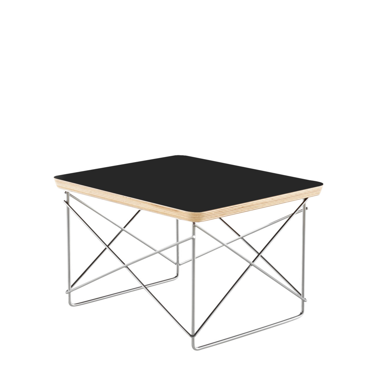 Eames Wire Base Table in Black by Herman Miller