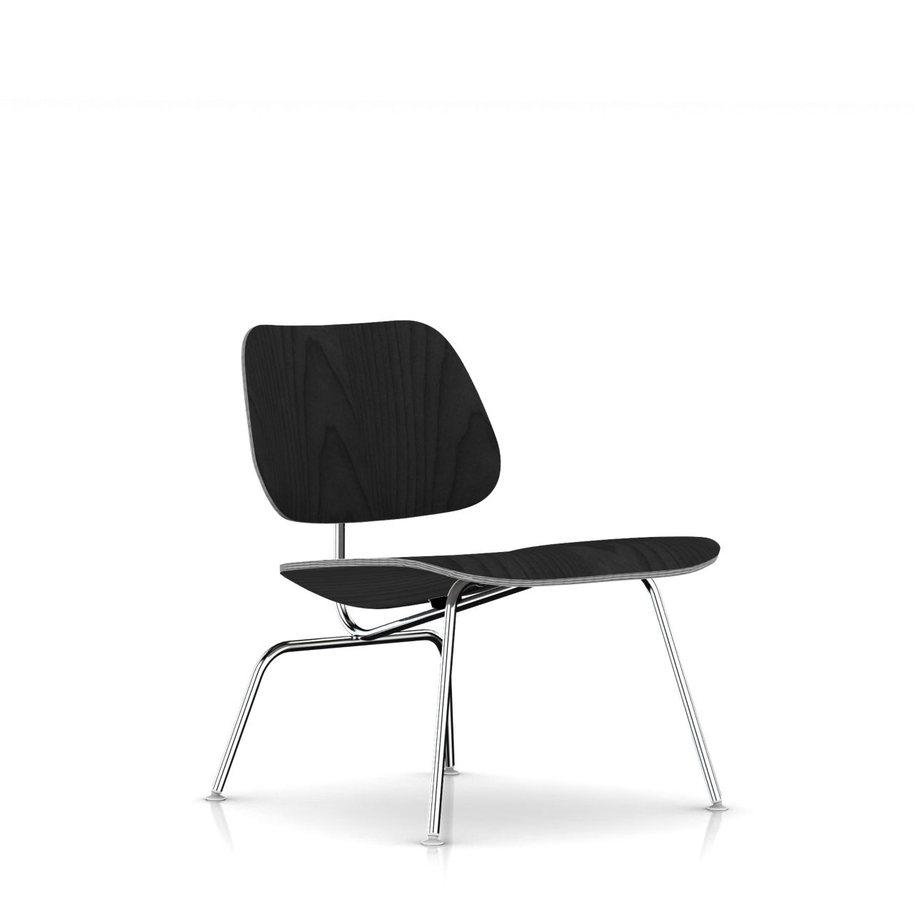 Eames Molded Plywood Lounge Chair in Ebony by Herman Miller