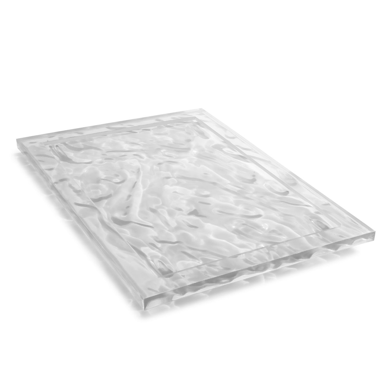 Dune Serving Tray in Crystal 181 in Wide by Kartell
