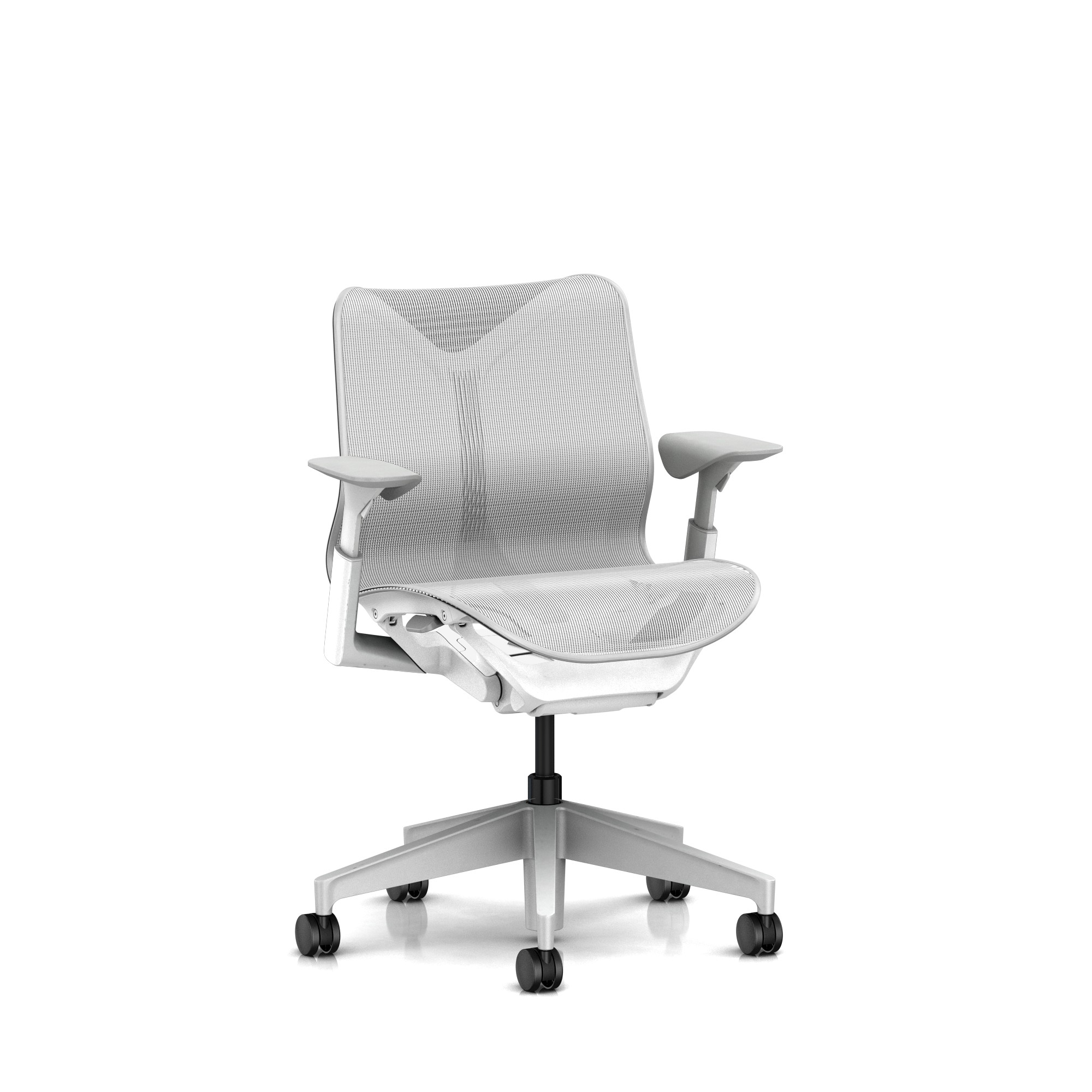 Cosm Chair in Studio White Low Back Height by Herman Miller