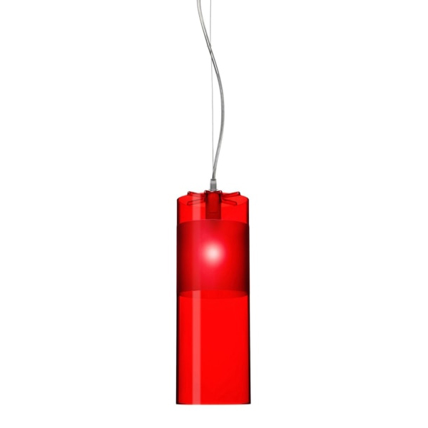 Easy Pendant Lamp in Red by Kartell
