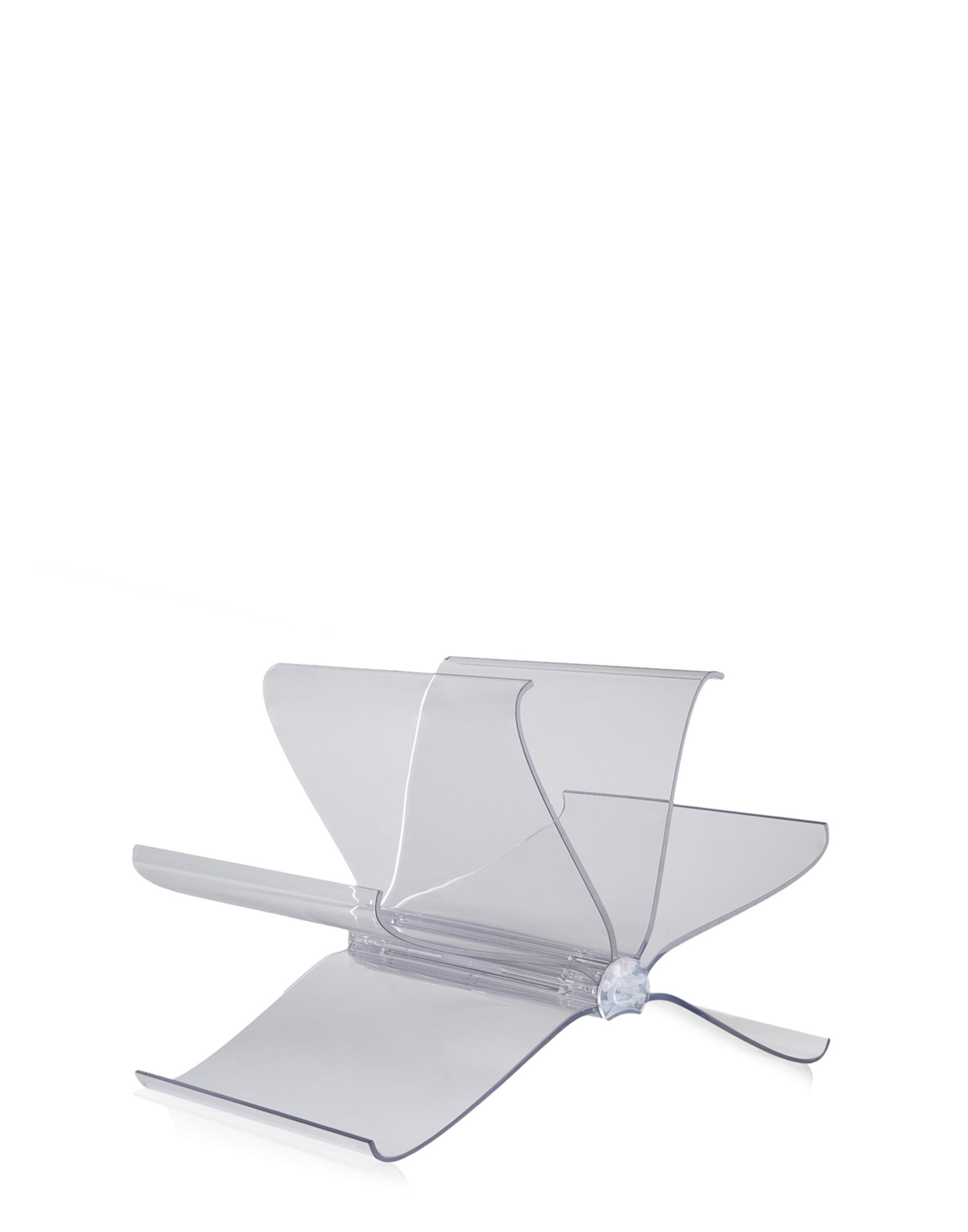 Front Page Magazine Rack in Crystal by Kartell