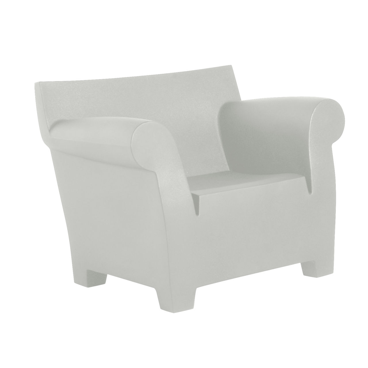 Bubble Club Chair in Light Grey by Kartell