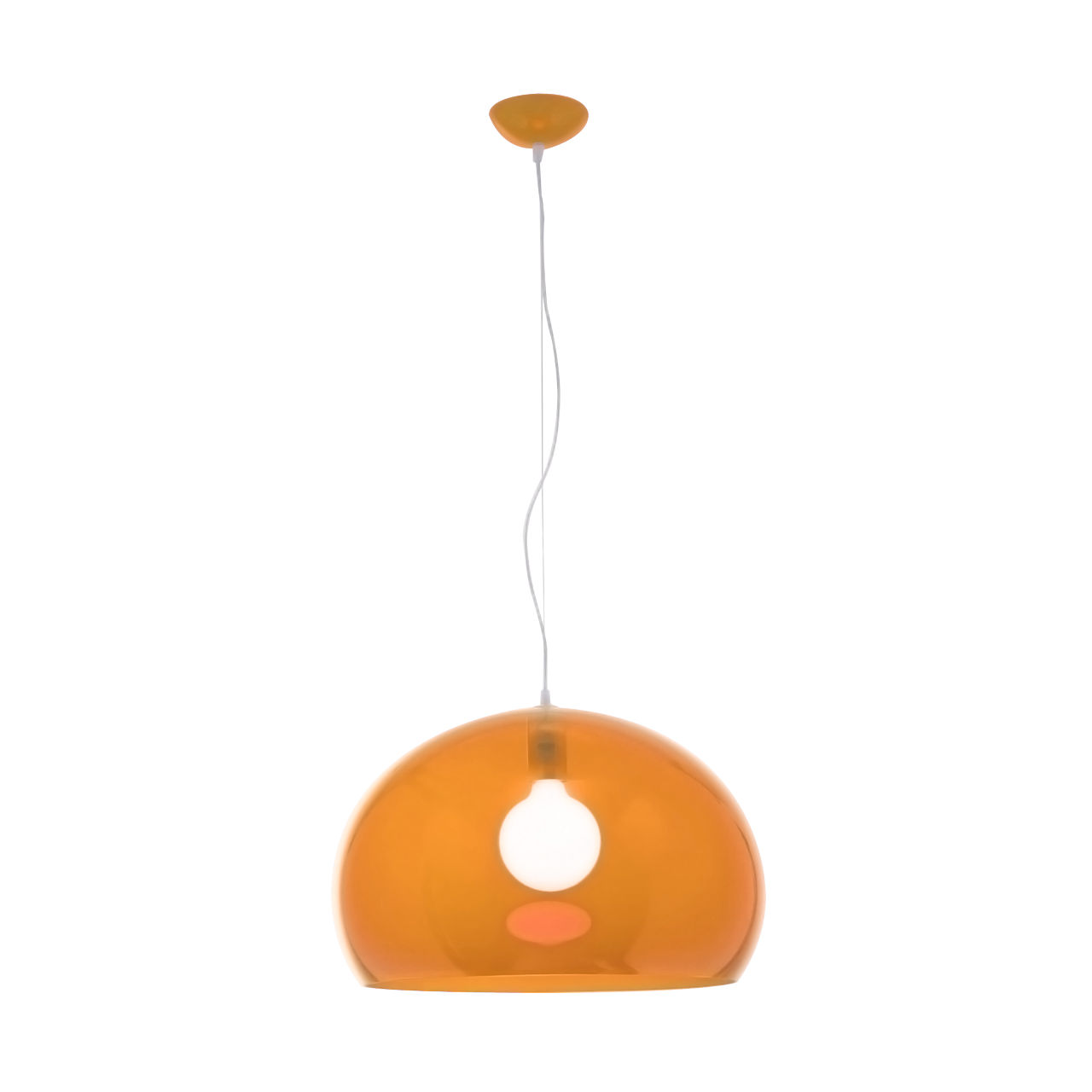 FLY Hanging Lamp in Orange by Kartell