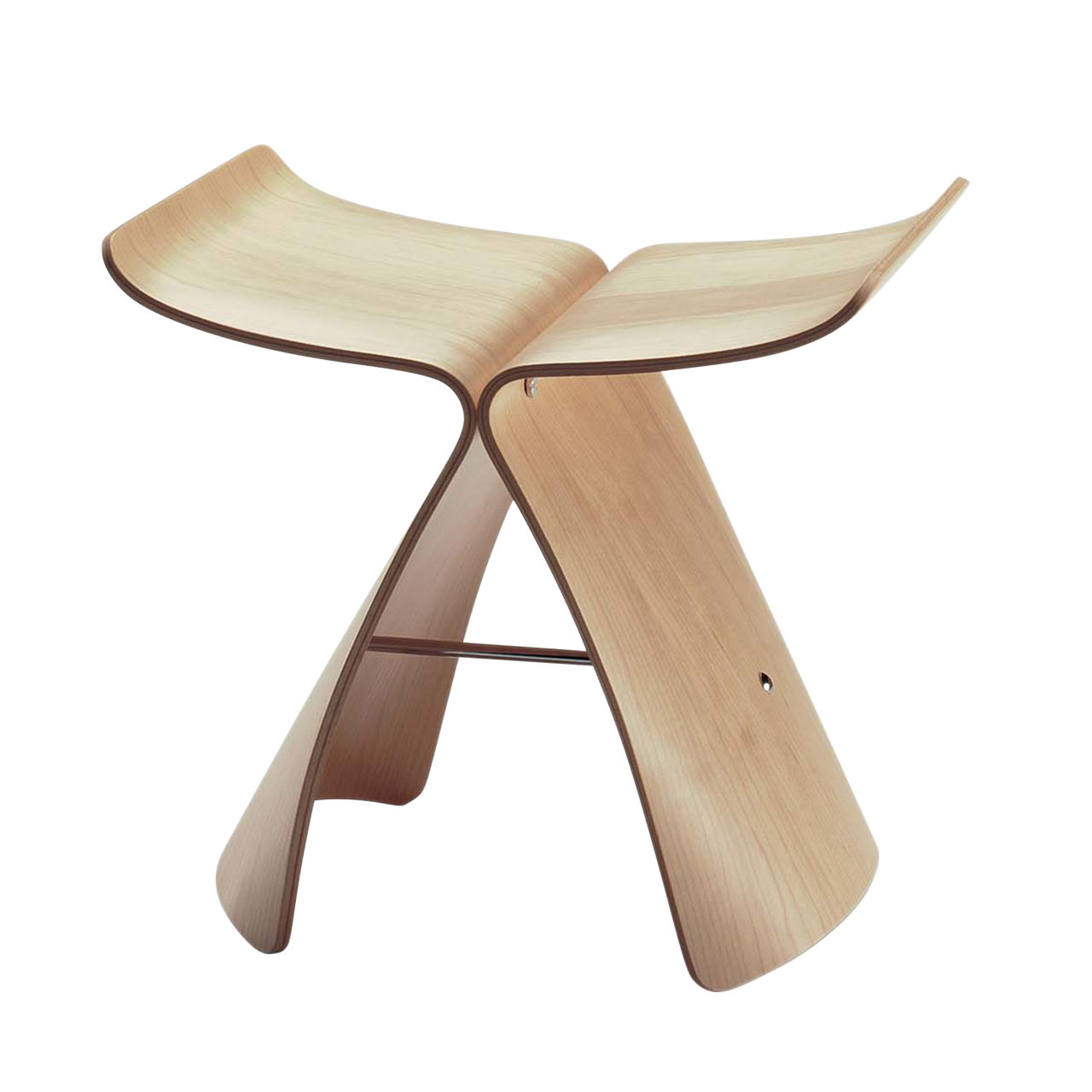 Butterfly Stool in Marbled Maple by Vitra