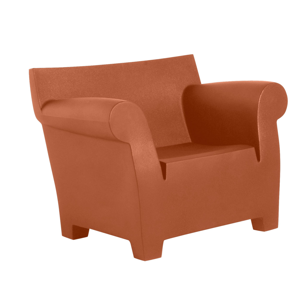 Bubble Club Chair in Terracotta by Kartell