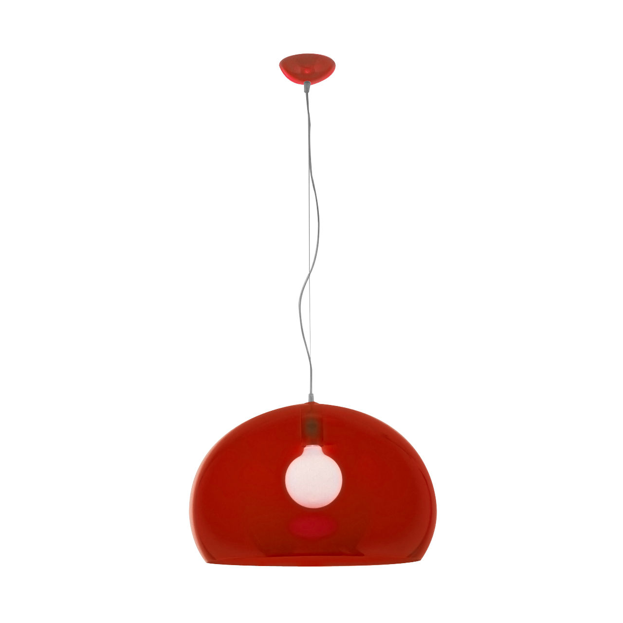 FLY Hanging Lamp in Scarlet Red by Kartell