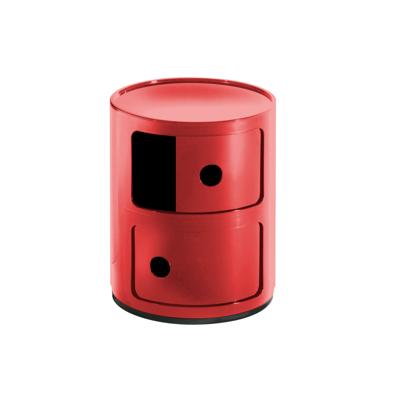 Componibili Small Round Storage Modules in Red by Kartell