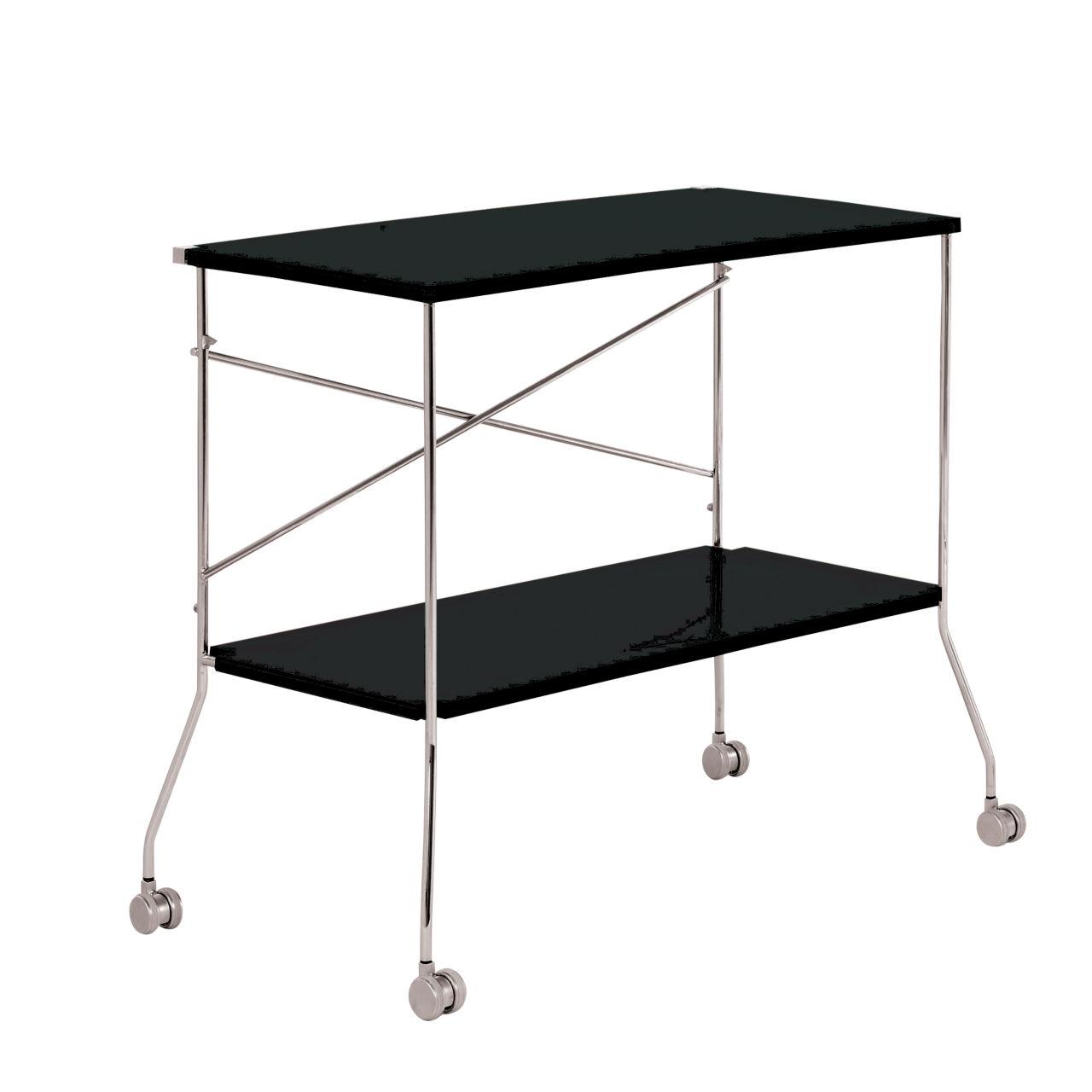 Flip Folding Trolley in Glossy Black by Kartell