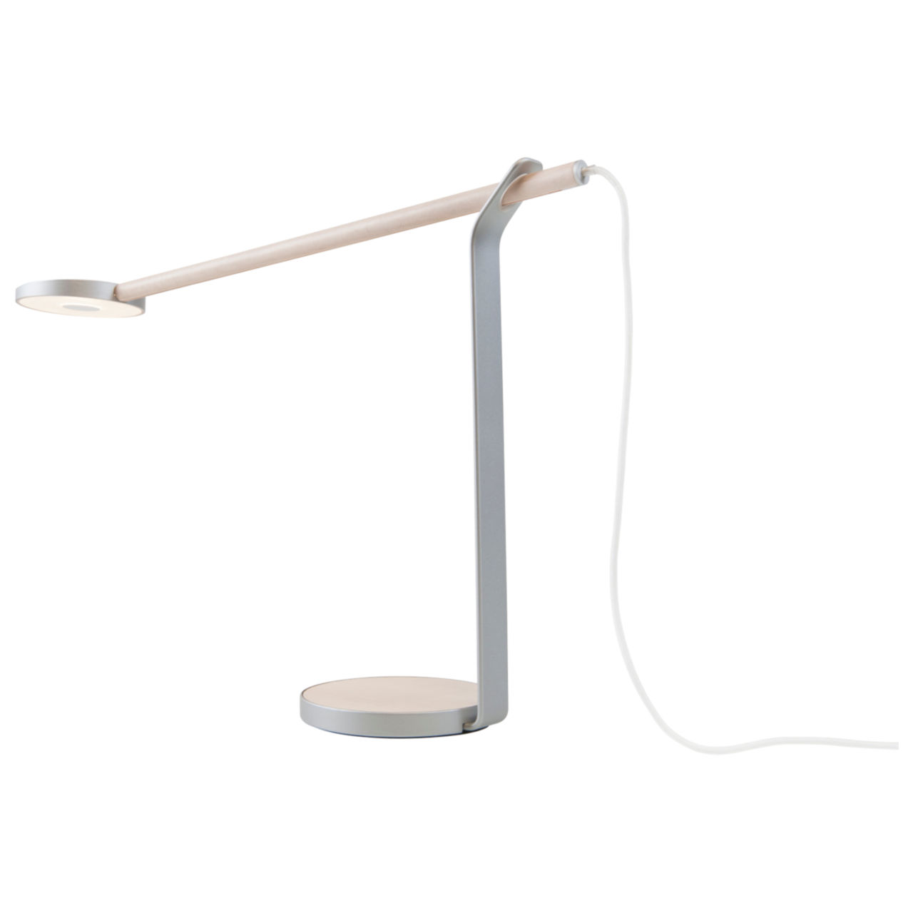 Gravy Desk Light in Silver with Maple by Koncept