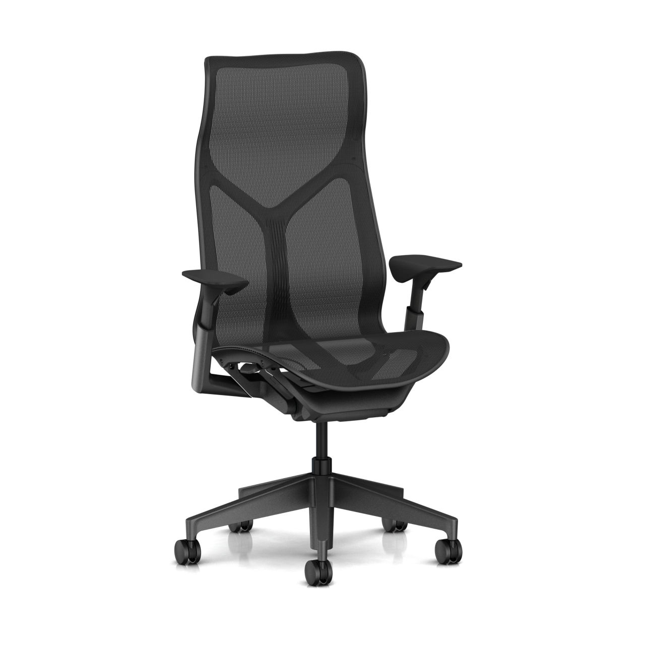 Cosm Chair in Graphite High Back Height by Herman Miller