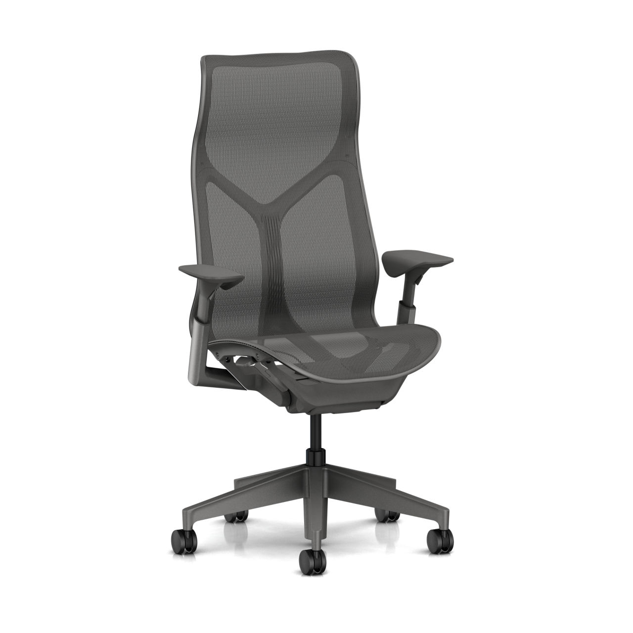 Cosm Chair in Carbon High Back Height by Herman Miller