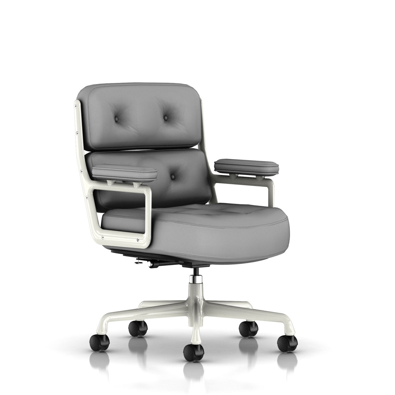 Eames Executive Work Chair in Smoke Leather by Herman Miller