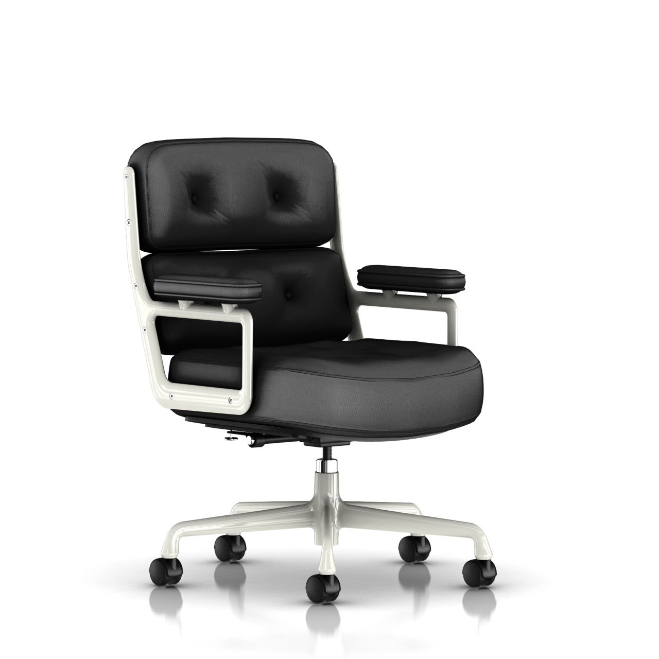 Eames Executive Work Chair in Black Leather by Herman Miller