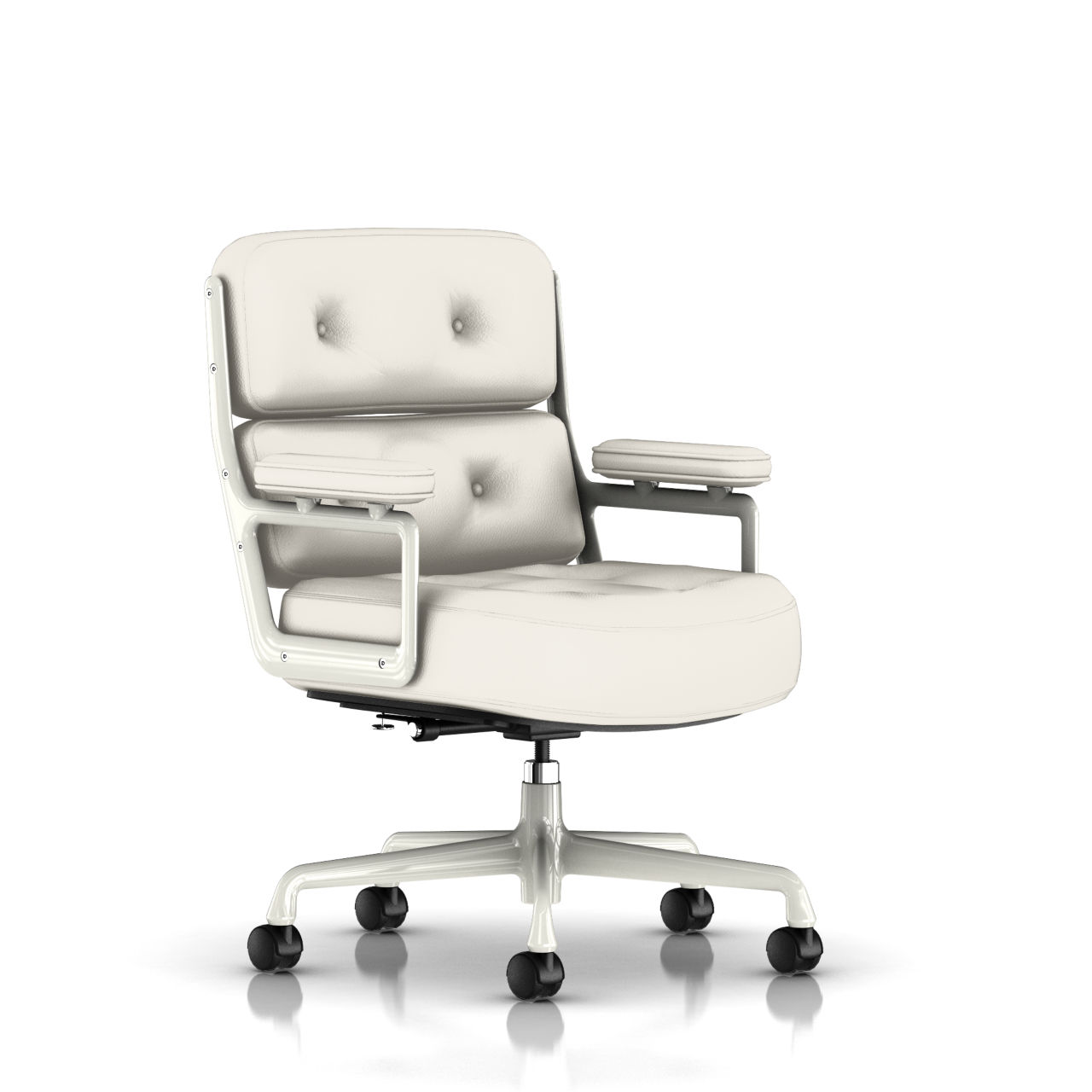 Eames Executive Work Chair in Alpine Leather by Herman Miller