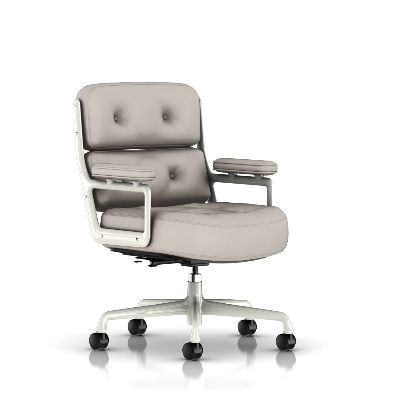 Eames Executive Work Chair in Sable Grey Leather by Herman Miller