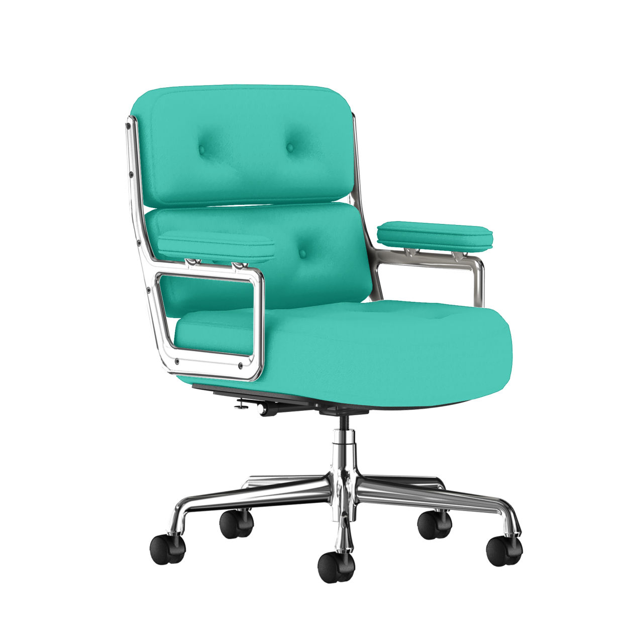 Eames Executive Work Chair Fabric in Aqua Green by Herman Miller
