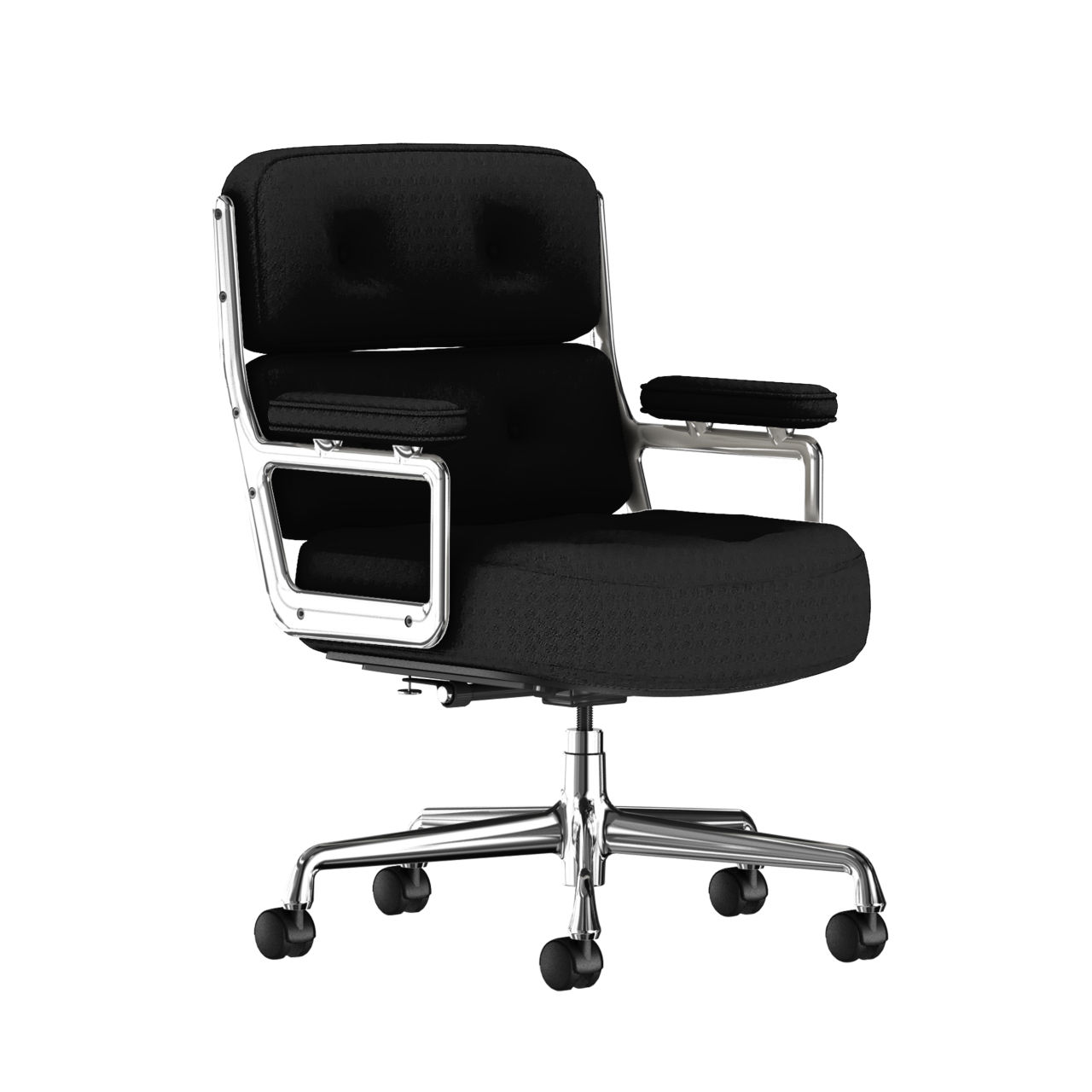 Eames Executive Work Chair Fabric in Black by Herman Miller