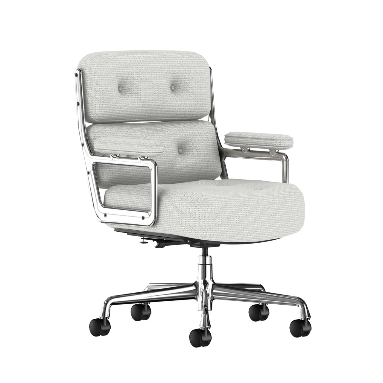 Eames Executive Work Chair Fabric in Messenger Ice by Herman Miller